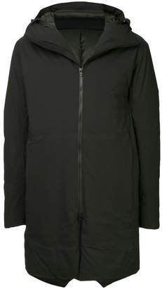 Attachment padded mid-length coat