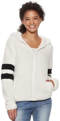 So Juniors' SO Varsity Striped Sherpa Hooded Jacket
