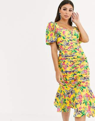 Talulah Finch floral print midi dress