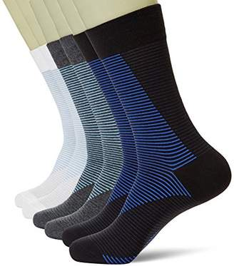 KOSY KOMFORT Mens Thin Cotton 6-Pack Classic Crew Socks FIT 6-11