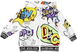 Dolce & Gabbana Cartoon Print Cotton Sweatshirt Hoodie