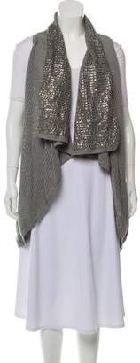 Alice + Olivia Embellished Open Front Cardigan w/ Tags