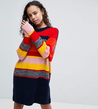 Asos Knitted Oversized Dress in Stripe