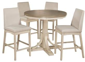 Hillsdale Furniture Clarion Five (5) Piece Round Counter Height Dining Set with Parson Stools