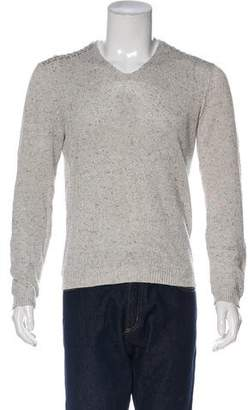 John Varvatos V-Neck Rib Knit Sweater