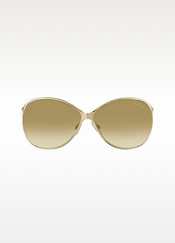 Roberto Cavalli Zinnia - Snake Temple Round Sunglasses