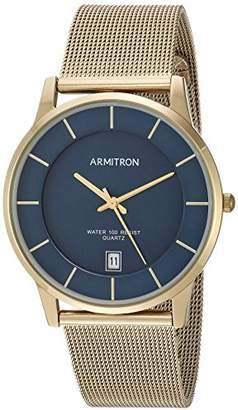 Armitron Men's Date Function Dial Gold-Tone Mesh Bracelet Watch