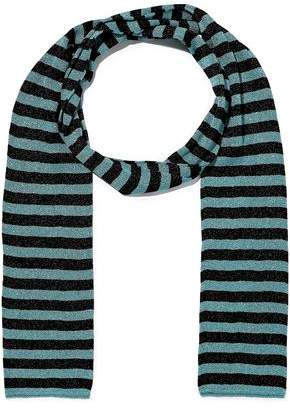 Missoni Metallic Striped Crochet-knit Scarf
