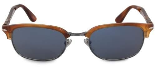 Persol Rectangle Sunglasses PO8139S 96 56 52 | Terra di Siena Frame | Grey Lenses