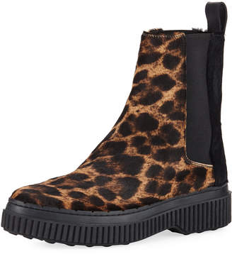Tod's Winter Gommini Leopard-Print Chelsea Boots