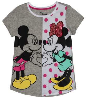 Minnie Mouse Love Always Mickey and Minnie Sequin Graphic T-Shirt (Little Girls & Big Girls)
