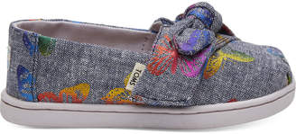 Rainbow Foil Chambray Bow Butterflies Print Tiny TOMS Classics