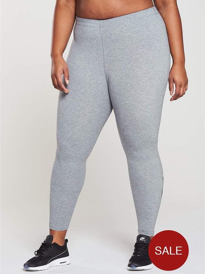 Leg A See Legging (Plus Size) - Grey