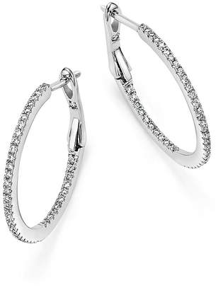 Bloomingdale's Diamond Micro Pavé Inside Out Hoop Earrings in 14K White Gold, .25 ct. t.w. - 100% Exclusive
