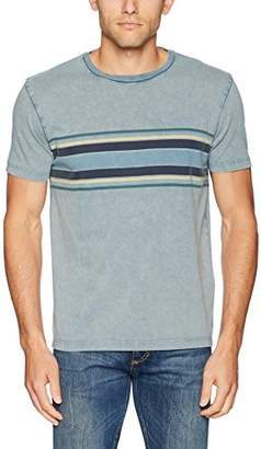 Lucky Brand Men's Chest Stripe Crew Neck TEE Shirt