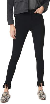 Sam Edelman The Stiletto High Waist Frayed Ankle Skinny Jeans
