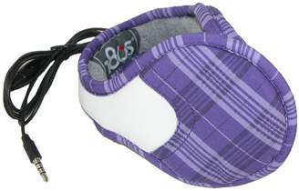 180s Women's Gateway Plaid Wrap Around Headphone Earmuffs, Purple