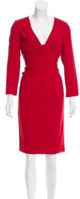 Valentino Gathered Sheath Dress