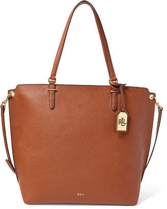 Ralph Lauren Faux-Leather Medium Abby Tote
