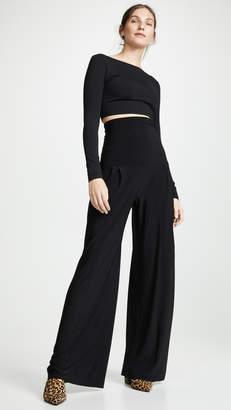 Norma Kamali High Waist Pleat Pants