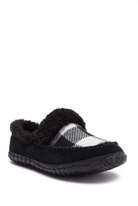 Sorel Out N About Faux Fur Lined Plaid Slipper