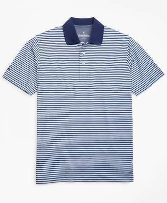 Brooks Brothers Performance Series Mini-Feeder Stripe Polo Shirt