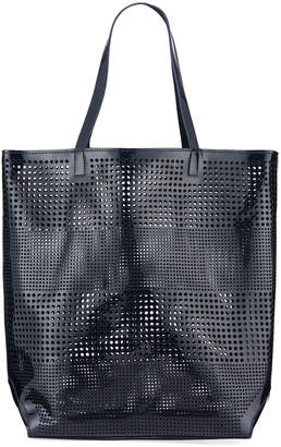 Neiman Marcus Perforated Tote/Beach Bag