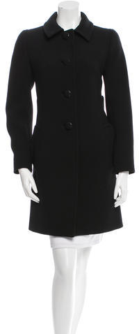 prada Prada Wool Knee-Length Coat