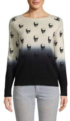 360 Cashmere Dip Dye Skull Cashmere Sweater