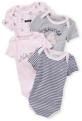 Nautica Newborn Girls) 4-Pack Short Sleeve Bodysuit