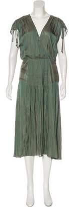 Veronica Beard Pleated Midi Dress
