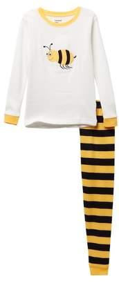 Bumble Bee Leveret Bumblebee Pajama Set (Toddler, Little Girls, & Big Girls)
