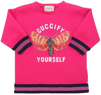 3c712a221 Gucci Butterfly Patch Double Jersey Sweatshirt