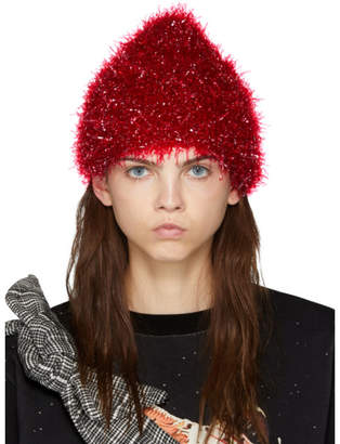 Undercover Red Glossy Film Beanie