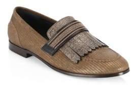 Brunello Cucinelli Fringe Loafers