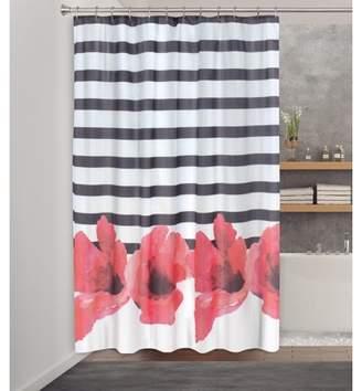 "Splash Home Chic Retreat Polyester Fabric Shower Curtain, 70"" x 72"", Pink"
