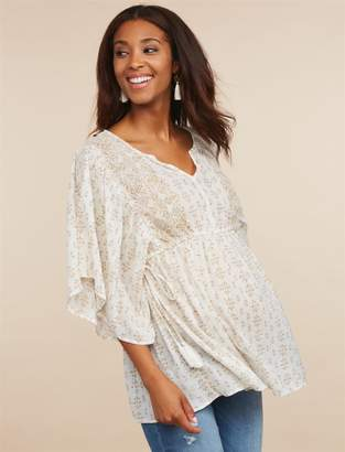 Jessica Simpson Motherhood Maternity Tie Detail Maternity Top
