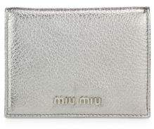 Miu Miu Miu Miu Madras Metallic Leather Bifold Wallet