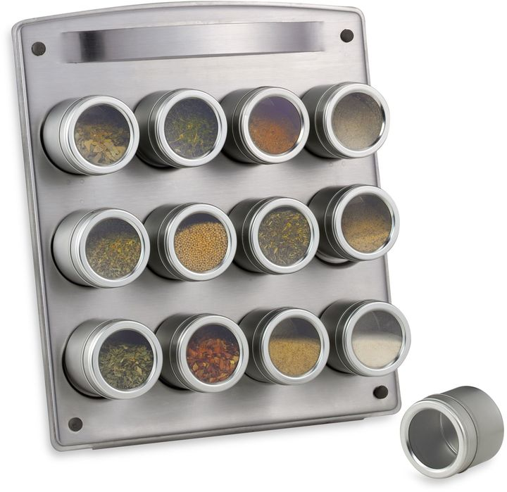 Bed Bath & Beyond Magnetic 12-Jar Spice Rack with Easel