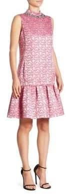 Erdem Nena Beaded Flounce Dress