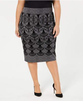 Alfani Plus Size Printed Skirt, Created for Macy's