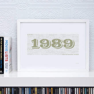 Typaprint 30th Birthday 1989 Print