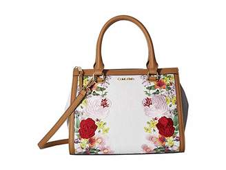 621ef2db2d Calvin Klein Mercy Floral Embroidered Monogram Satchel