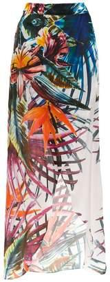 BRIGITTE silk maxi skirt