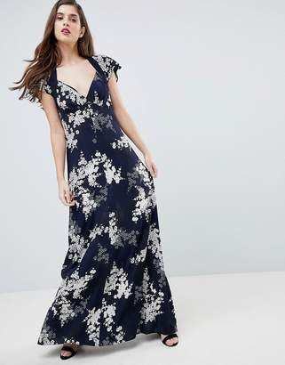 French Connection Floral Print Maxi Dress