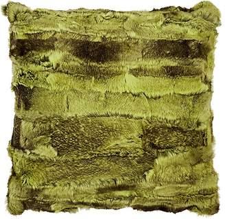 Adrienne Landau Textured Rabbit Fur Pillow