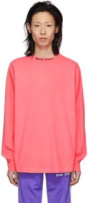 Palm Angels Pink Logo T-Shirt