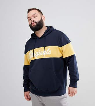 Jack and Jones Originals Plus Size Hoodie With Originals Sport Stripe