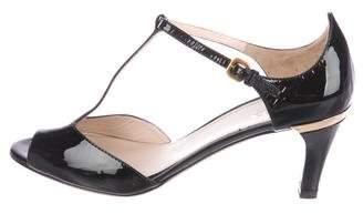 Prada Patent Leather T-Strap Sandals w/ Tags