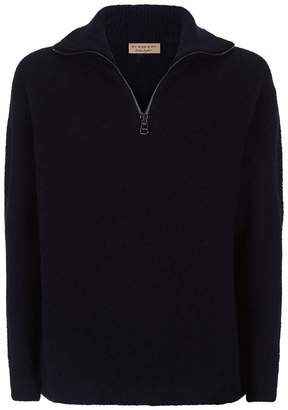 Burberry Knitted Half Zip Sweater